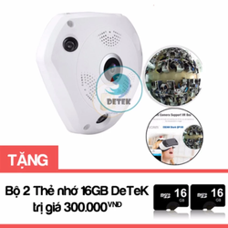 Camera IP VR360 quay mọi góc nhìn 360 độ tặng Bộ 2 thẻ nhớ 16GB
