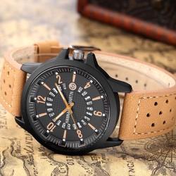 Đồng hồ nam dây da xịn cá tính có lịch ngày mặt chóng rỉ-309