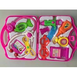 Bộ đồ chơi bác sĩ màu hồng