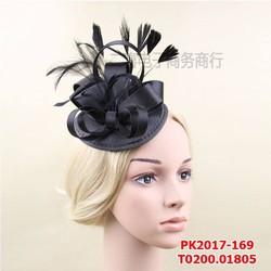 Mũ đội đầu cô dâu màu đen huyền bí , phong cách cổ điển