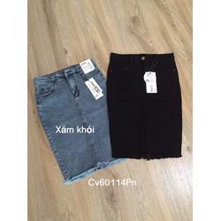 Chân váy jeans bút chì về lại giá giảm