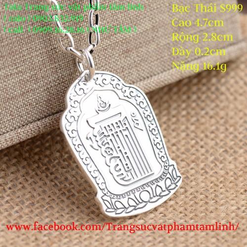 Mặt dây chuyền khắc Chủng Tử Kalachakra và Bát Nhã Tâm Kinh...