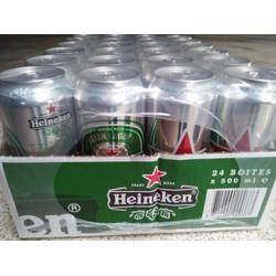 Bia Heineken lon 500ml Thùng 24 lon hà lan