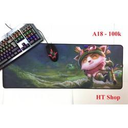 Miếng lót chuột và bàn phím cỡ lớn - teemo - 80x30cm