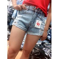 Short jean rách lưng cao