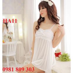 Đầm ngủ phi bóng phối ren HA11