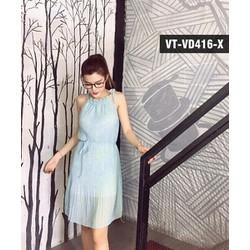 Váy Dập Li Cột Nơ Vai Quảng Châu