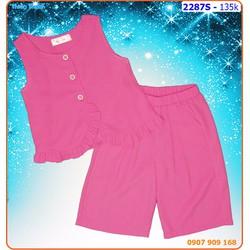 Bộ quần ống rộng phối áo viền bèo xinh xắn cho bé ngày hè