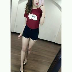 Áo thun cotton in hình thỏ