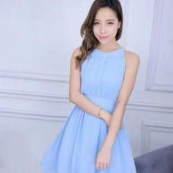 Đầm xòe cổ yếm siêu đẹp hàng nhập