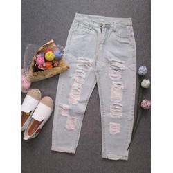Quần Jean dài rách thời trang