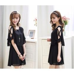 Đầm xòe thiết kế trẻ trung phong cách Hàn - D5671