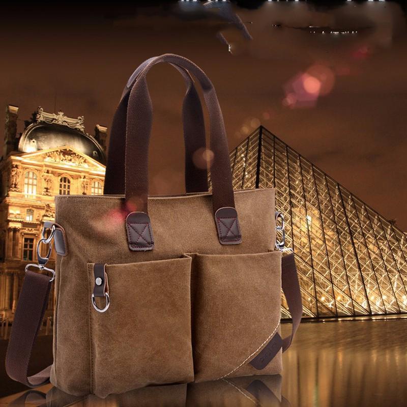 Túi vải bố siêu bền tiện làm văn phòng du lịch nhiều ngăn-301 7