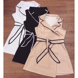 Đầm xoè vest cột eo _MÕ CHU SHOP