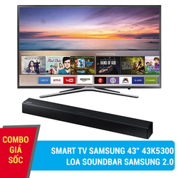 Combo Smart TV Samsung 43inch 43K5500 + Loa soundbar Samsung 2.2