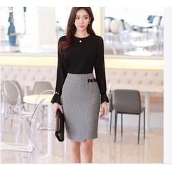 Chân váy bút chì Hàn quốc style