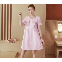 Đầm bầu chất cotton vải mát hè - M1883