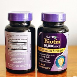 Viên uống hỗ trợ mọc tóc Natrol Biotin 10000 mcg