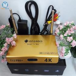 Android TV Box T12 Pro+ biến Tivi thường thành Smart TV thông minh