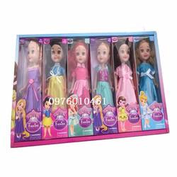 combo 6 búp bê công chúa cho bé