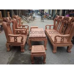 Bộ bàn ghế giả cổ minh quốc đào tay 12 gỗ hương đá