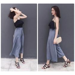 Set áo bèo 2 dây quần suông Angela Phương Trinh