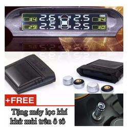 Máy đo áp suất lốp Xe Hơi dùng năng lượng mặt trời hoặc nguồn xe hơi