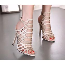 Giày sandal cao gót xương cá nhuyễn