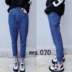 Quần Baggy jeans trơn