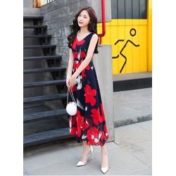 Đầm maxi hoa nổi bật