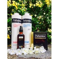 Trọn bộ PALLAMINA 750ML gội, xả, hấp dầu,tinh dầu chăm sóc tóc tại nhà