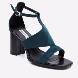 Sandal cao gót Mirabella đế vuông quai kiểu 806 màu xanh