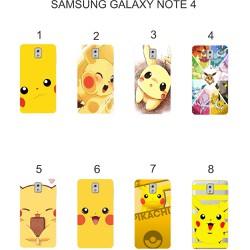 Ốp lưng Samsung Galaxy Note 4 dẻo in hình Pikachu