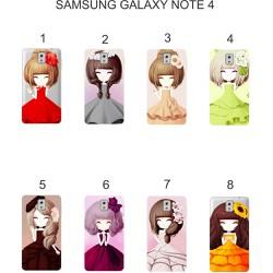 Ốp lưng Samsung Galaxy Note 4 dẻo in hình Chibi