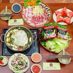 HN- Lẩu thập cẩm hấp dẫn cho 4 người tại Nhà hàng Nghiện Lẩu