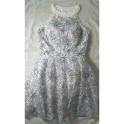 Đầm ren dự tiệc cao cấp đen trắng