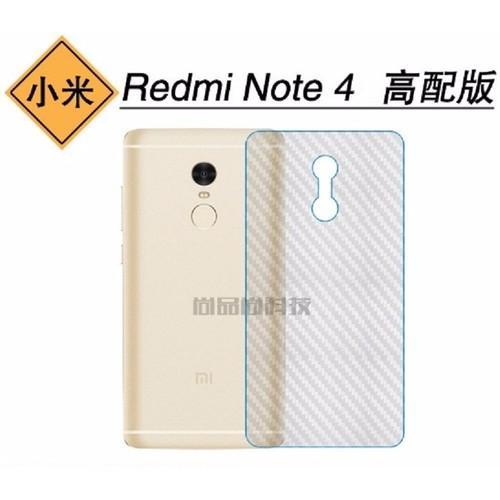 Miếng dán lưng vân Carbon Xiaomi Redmi Note 4