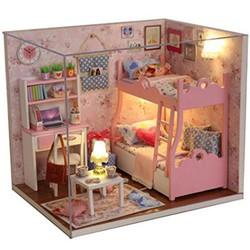 Mô hình nhà gỗ DIY- Căn phòng bé gái