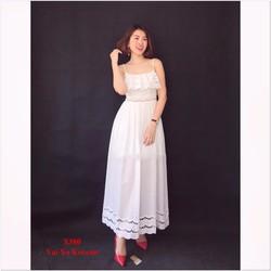 Đầm Maxi 2 Dây Ren Thêu Cao Cấp
