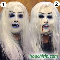 Mặt nạ da quỷ tóc trắng