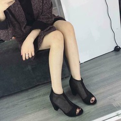 Giày cao got lưới siêu xinh mẫu mới nhất 2017