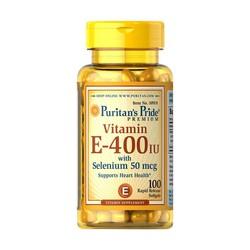 Viên uống Vitamin E 400IU with Selenium Puritan 50 Mcg