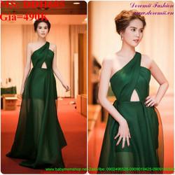 Đầm maxi dự tiệc thiết kế lệch vai xinh đẹp và sang trọng DDH605