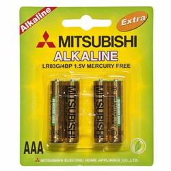 Pin kìm alkaline AAA Mitsubishi vỉ 4 viên