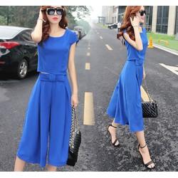 Hàng nhập Bộ đồ nữ thời trang Hàn Quốc màu xanh