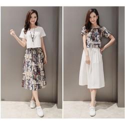 [FREE SHIP] Set đồ áo váy Retro