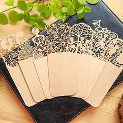 Bộ 5 Kẹp Sách Bookmark Gỗ Handmade Hình Khuôn Vẽ