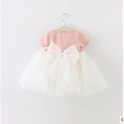 Đầm bé gái kết nơ [6-12kg]