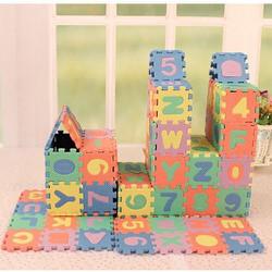Bộ đồ chơi xếp hình chữ và số cho bé vui học xốp -R036