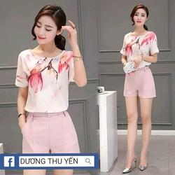 Sét quần màu hồng áo ht đổ